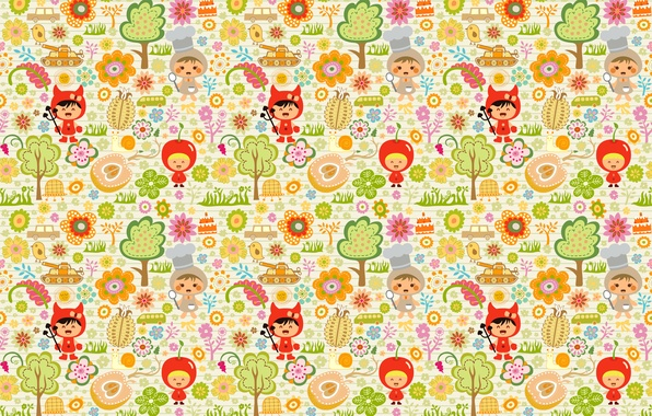 Picture trees, children, toys, children, Apple, costumes