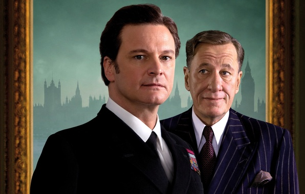 Picture the film, actors, Geoffrey Rush, Colin Firth, The King's Speech, Geoffrey Rush, King says, Colin …