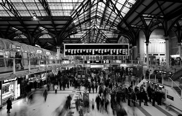 Picture people, England, London, station, london, vanity, schedule, scoreboard