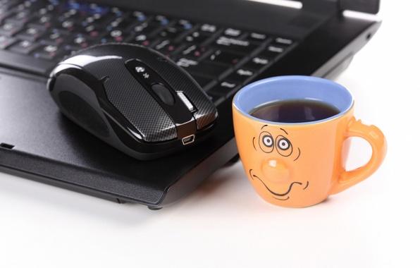 Picture sadness, creative, positive, blur, mouse, Cup, laptop, longing, notebook, hi-tech, bokeh, computer, mouse, laptop, wallpaper., …