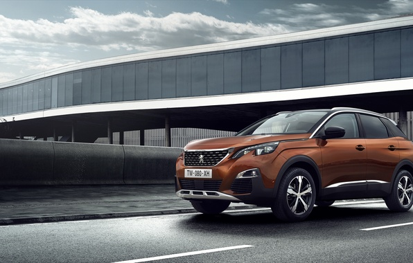 Picture the sky, clouds, Wallpaper, Peugeot, wallpaper, car, crossover, 3008