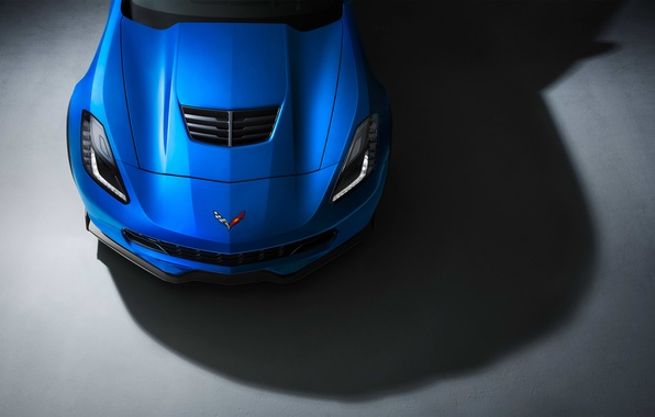 Picture Z06, Corvette, Chevrolet, Muscle, Car, Blue, Front, Color, Studio, Ligth