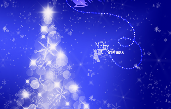 Picture winter, snow, background, holiday, magic, Shine, abstract, New Year, Christmas, Tree, Deer, Santa Claus, miracle, ...