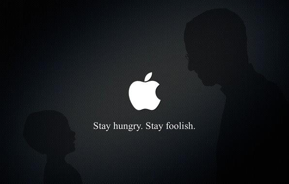 Picture apple, Steve jobs, stay foolish, steve jobs, stay hunry