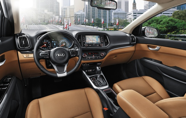 Picture panel, interior, the wheel, salon, Kia, Kia, crossover, torpedo, KX3