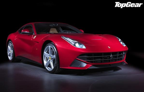 Picture red, Ferrari, Top Gear, Ferrari, supercar, twilight, the front, the best TV show, top gear, …