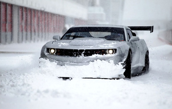 Picture Winter, Chevrolet, Snow, Camaro, Camaro, Beautiful, Car, Car, Winter, Snow, Wallpapers, Wallpaper, ZL1, The front, …