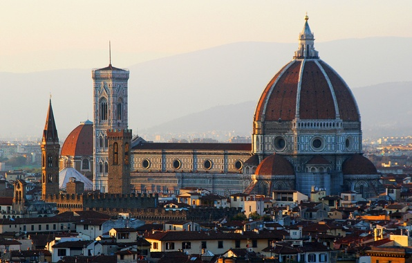 Picture home, Italy, Florence, Duomo, the Cathedral of Santa Maria del Fiore, the view from Piazzale …
