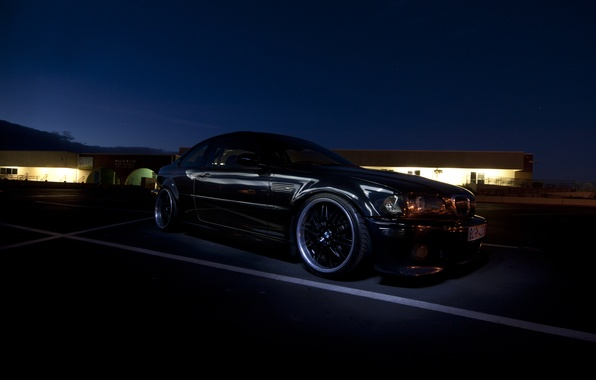 Picture night, tuning, BMW, BMW, black, black, tuning, E46