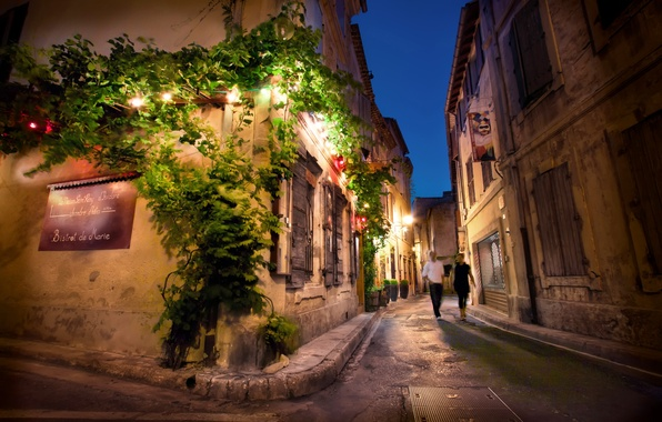 Picture night, France, France, Night, Street, Saint Remy de Provence