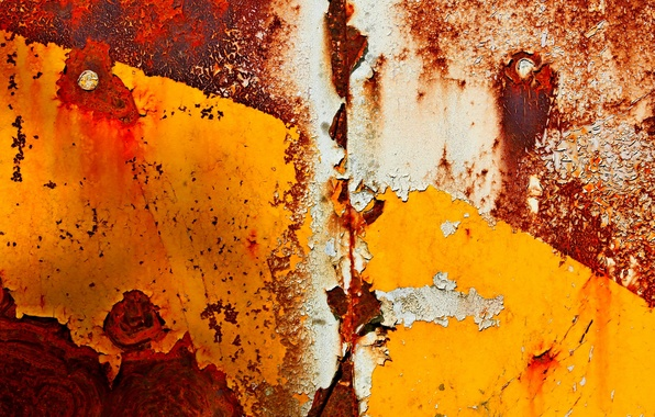 Picture metal, paint, rust
