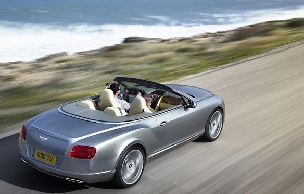 Picture road, sea, bentley, convertible