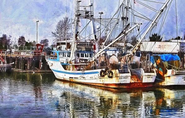 Photo wallpaper sea, Marina, port, the ship
