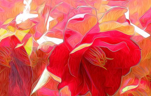 Picture flower, nature, rendering, petals