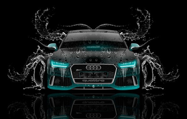 Picture Audi, Water, Design, Black, Audi, Neon, Machine, Style, Wallpaper, Background, Water, Car, Art, Art, Photoshop, …
