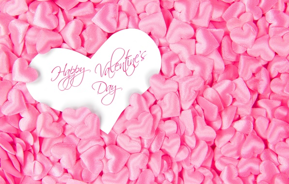 Wallpaper pink, Happy, love, Valentine\'s Day, heart, hearts ...