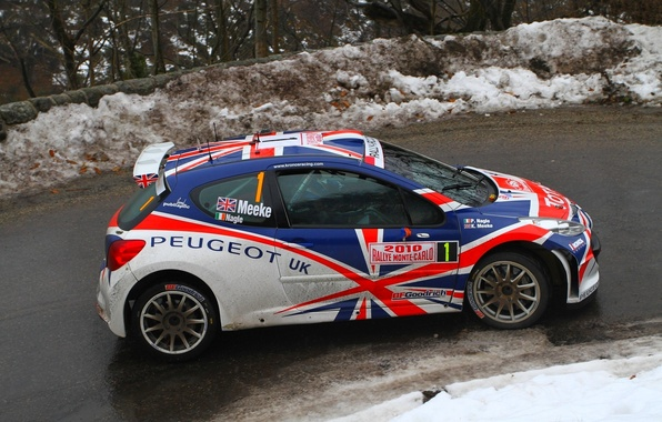 Picture Winter, Vinyl, Machine, Peugeot, UK, Peugeot, WRC, S2000, Rally, Rally, Side view, 207