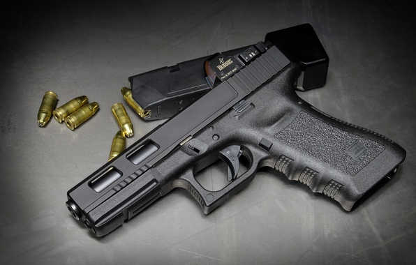 Picture Austria, cartridges, Glock 17, self-loading pistol