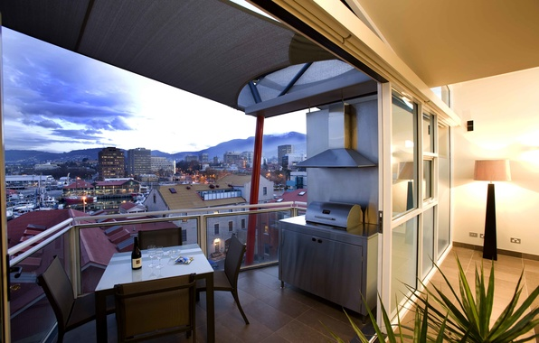 Picture design, the city, house, style, interior, balcony, terrace, living space