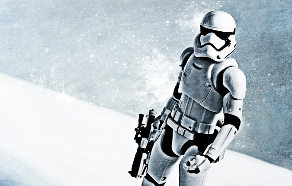 Picture winter, snow, weapons, Star Wars, Stormtrooper