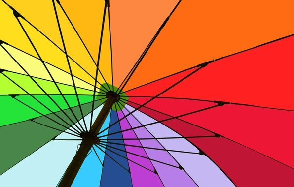 Picture colors, umbrella, structure