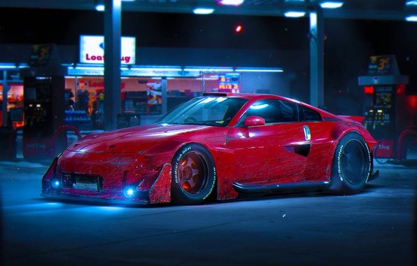 Picture Nissan, Red, Color, 350Z, Tuning, Future, by Khyzyl Saleem