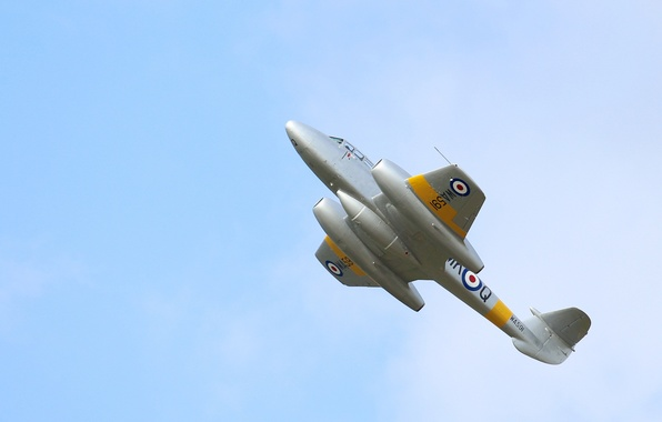 Picture the sky, flight, fighter, jet, Gloster Meteor