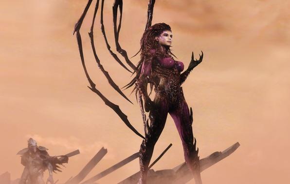Picture zerg, Blizzard, StarCraft II, Sarah Kerrigan, Sarah Kerrigan, The Queen Of Blades, Queen of Blades