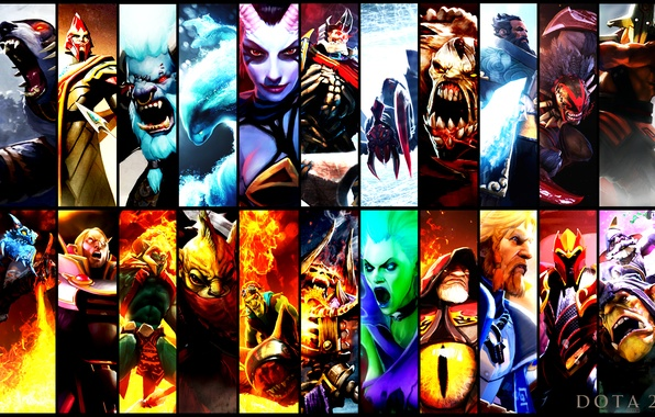 Picture heroes, dota 2, gallery, crimson