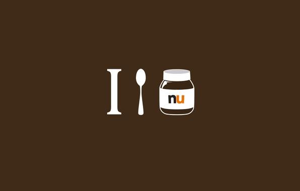 Picture spoon, Nutella, spoon, Nutella