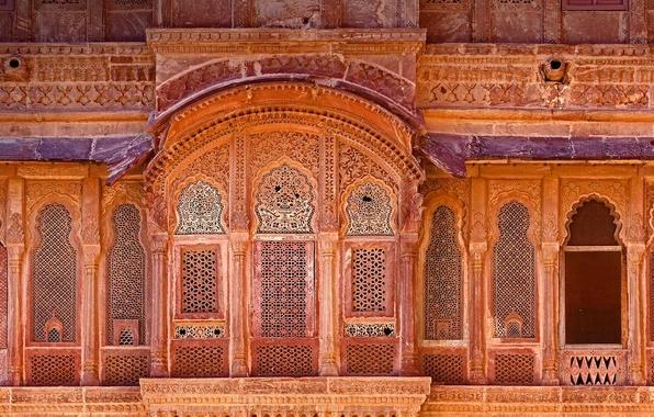 Picture India, fortress, facade, Mehrangarh, Jodhpur