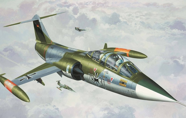 Picture figure, Lockheed, fighter-interceptor, Starfighter, F-104