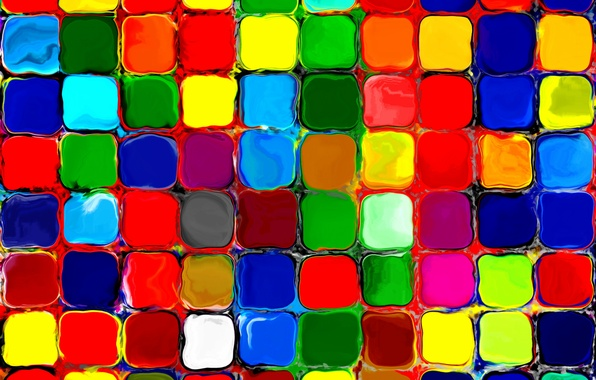 Picture mosaic, tile, figure, colorful, watercolor, rainbow, painting, colorful, pattern, rainbow, painting, mosaic, tiles, water colors