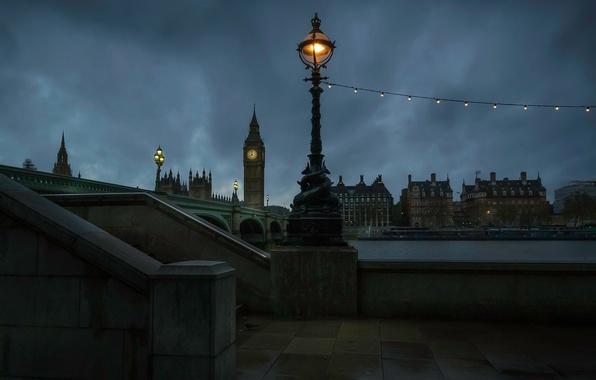 Picture night, bridge, lights, river, watch, England, London, tower, home, lights, Thames, Big Ben, light bulb, …