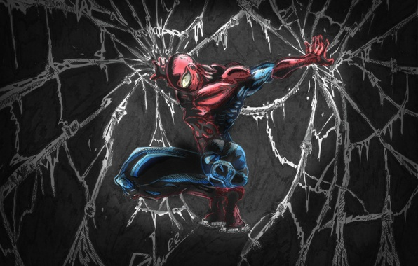 Picture the darkness, spider man, web, peter parker