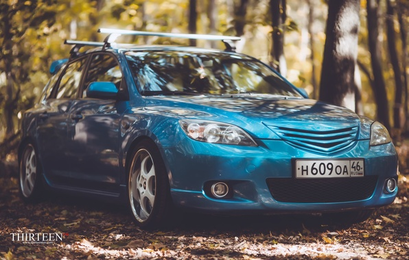 Picture machine, auto, autumn, lights, Mazda, photographer, before, Mazda, auto, photography, photographer, Thirteen
