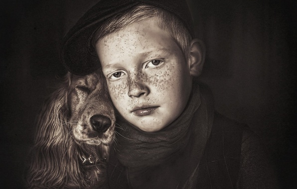 Picture dog, boy, friends