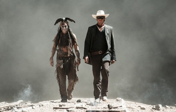 Picture Johnny Depp, Johnny Depp, The Lone Ranger, Armie Hammer, The lone Ranger, John Reid, Tonto, …