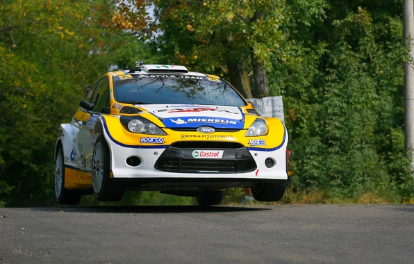 Wallpaper Ford, The Front, Fiesta, Forest, Fiesta, Rally