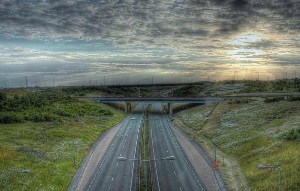 Picture road, bridge, markup, hdr