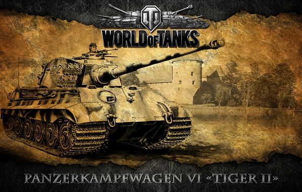 Picture tank, World of tanks, WoT, German, heavy tank, world of tanks, Tiger 2, Tiger 2, …