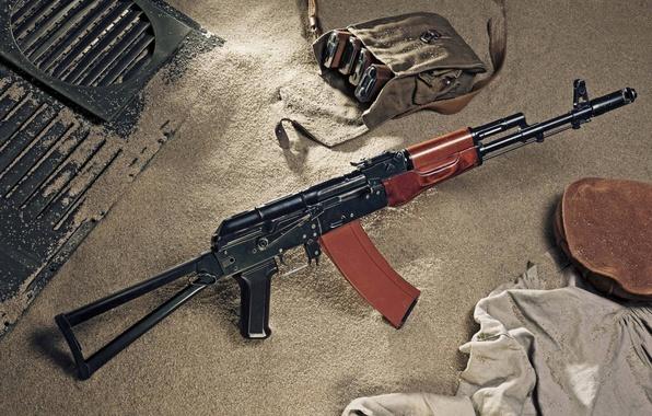 Picture sand, machine, Kalashnikov, The AKS-74