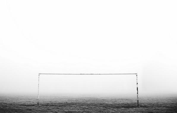 Photo wallpaper fog, sport, gate