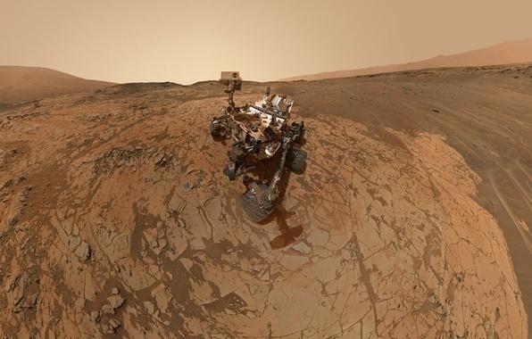 Picture robot, Mars, NASA, Curiosity, mount sharp
