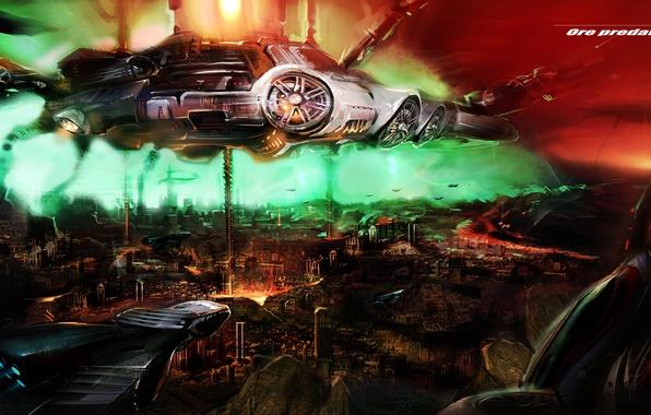 Picture the city, UFO, Orepredators