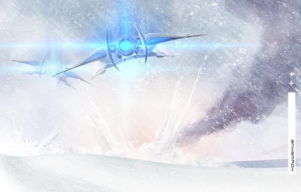 Picture snow, the plane, The crash