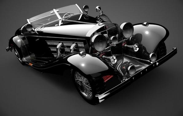 Picture retro, photo, Mercedes-Benz, car, mercedes benz