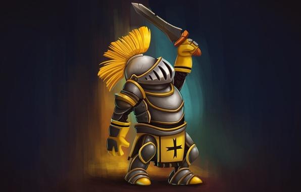 Picture sword, armor, warrior