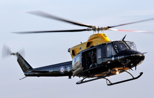 """Picture the sky, helicopter, American, multipurpose, """"Griffin"""", aerobatic training, Bell 412/CH-146 Griffon"""