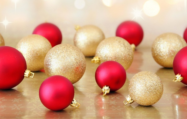 Picture balls, holiday, balls, new year, Christmas, red, christmas, new year, a lot, gold, Christmas decorations